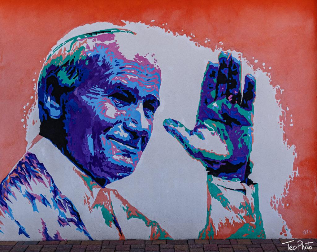 Murales di Papa Giovanni Paolo II